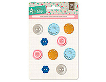 MIN-4141 MINT JULEP - VINTAGE BUTTONS Basic Grey