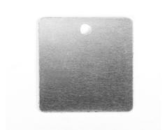 MP-200-001 MP-200-002 Placa metal cuadrado con agujero Sheet Metal - Ítem