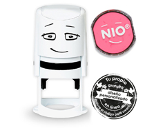 NI0005 Base de sello NIO con cupon y almohadilla de tinta color Shiny Pink NIO