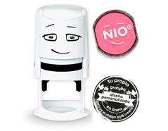 NI0005 Base de sello NIO con cupon y almohadilla de tinta color Shiny Pink NIO - Ítem