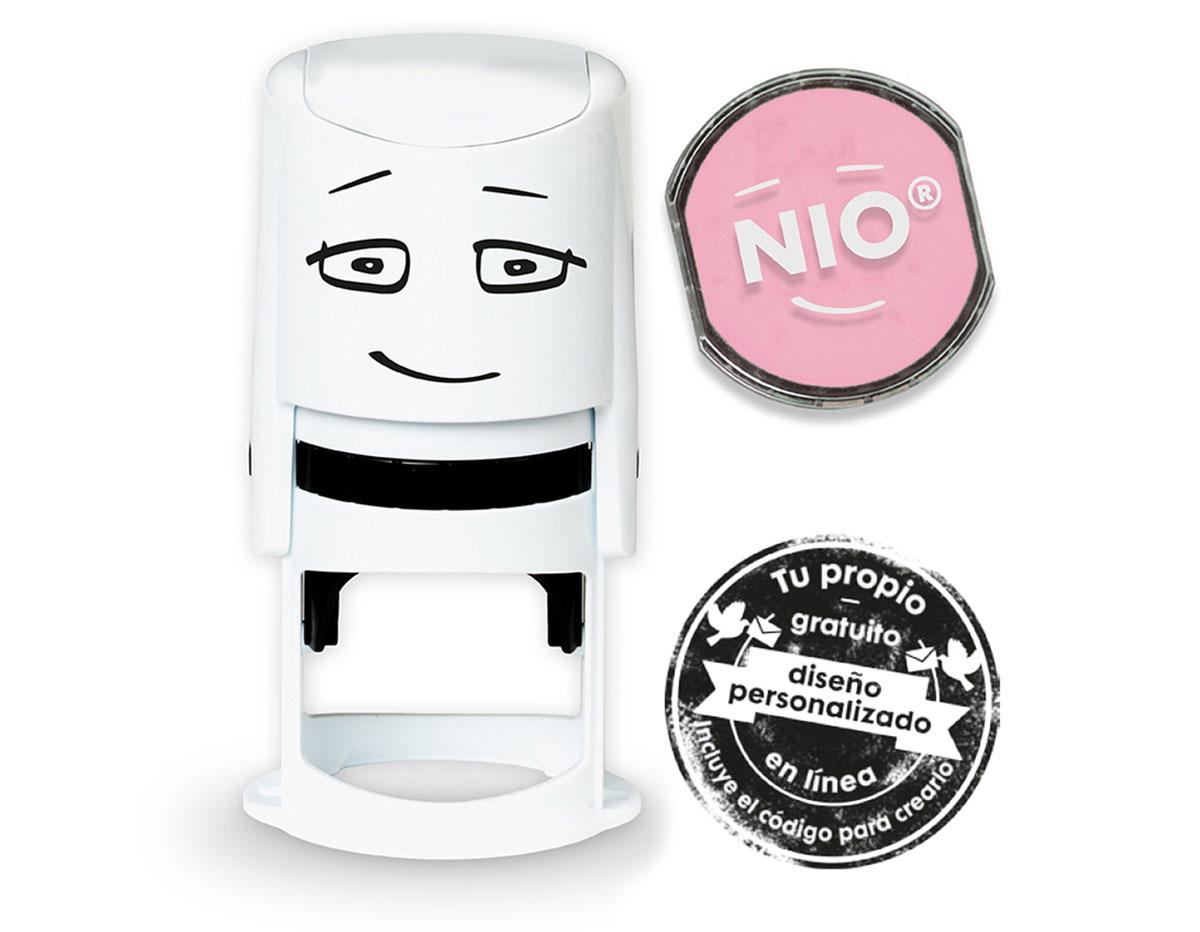 NI0006 Base de sello NIO con cupon y almohadilla de tinta color Soft Pink NIO