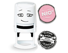 NI0006 Base de sello NIO con cupon y almohadilla de tinta color Soft Pink NIO