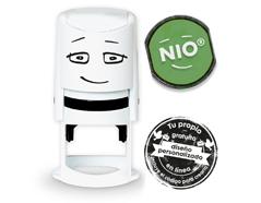 NI0008 Base de sello NIO con cupon y almohadilla de tinta color Smooth Green NIO - Ítem