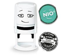 NI0009 Base de sello NIO con cupon y almohadilla de tinta color Fresh Mint NIO - Ítem