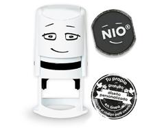 NI0010 Base de sello NIO con cupon y almohadilla de tinta color Fancy Grey NIO