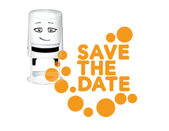 NI2007 Sello estandar para base NIO Save the date puntos NIO
