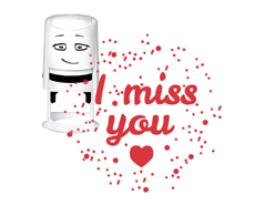 NI2011 Sello estandar para base NIO I miss you NIO