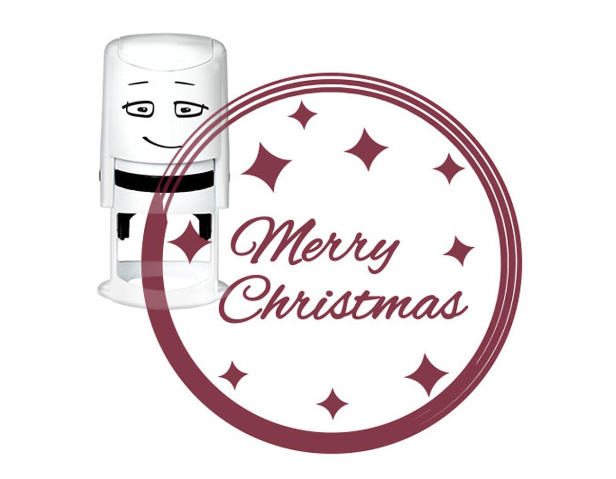NI2019 Sello estandar para base NIO Merry Christmas brillo NIO