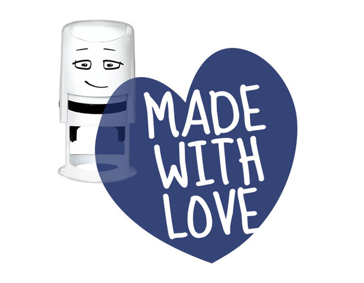 NI2028 Sello estandar para base NIO Made with love corazones NIO