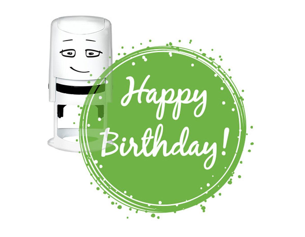 NI2034 Sello estandar para base NIO Happy Birthday NIO
