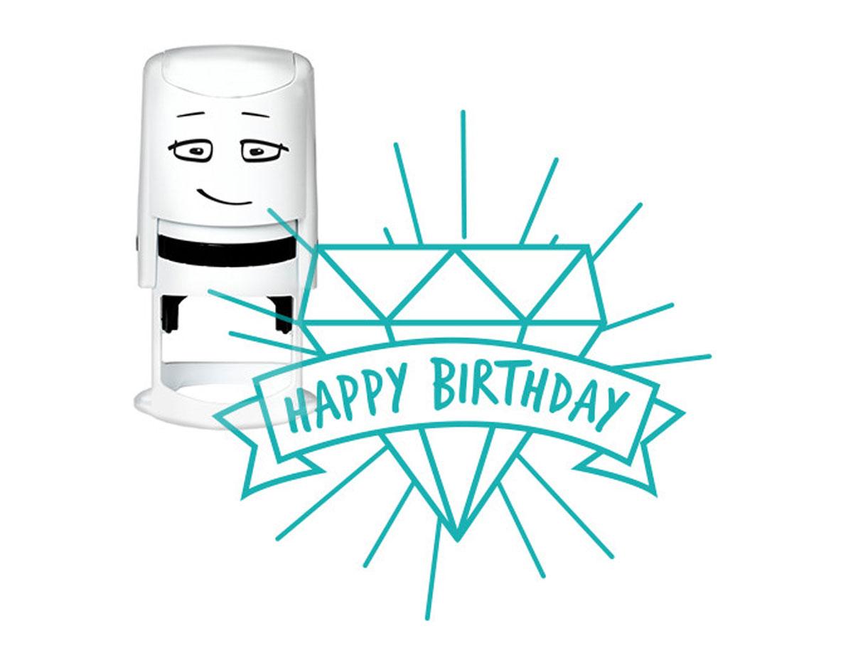 NI2036 Sello estandar para base NIO Happy Birthday diamante NIO