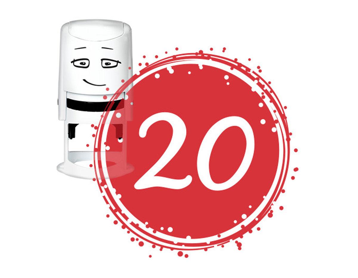 NI2038 Sello estandar para base NIO cumpleanos numero 20 NIO