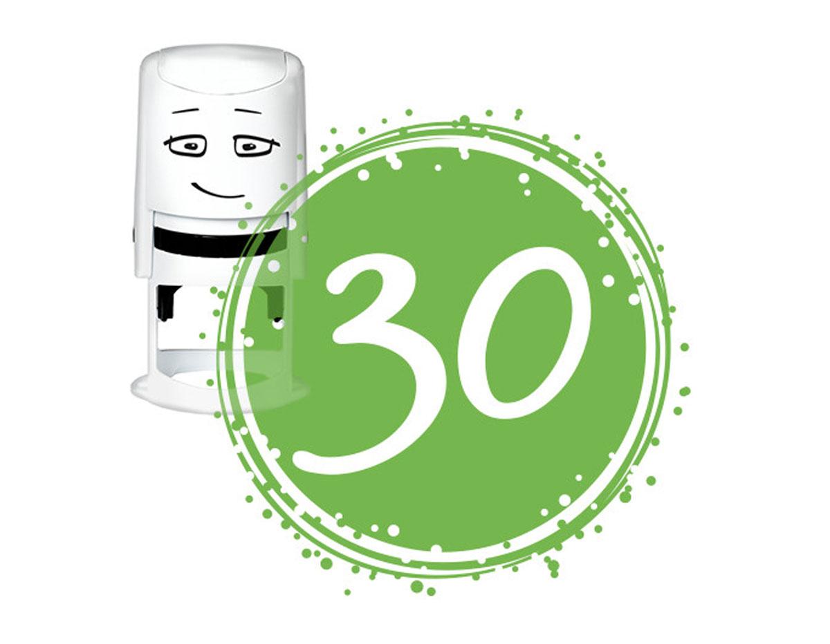 NI2040 Sello estandar para base NIO cumpleanos numero 30 NIO