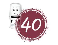 NI2041 Sello estandar para base NIO cumpleanos numero 40 NIO