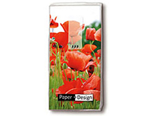 P01300 PANUELOS TT FIELD OF POPPIES 11X5 5cm 10u Paper Design