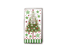 P01309 PANUELOS TT DECORATED TREE 11x5 5cm 10u Paper Design