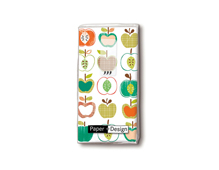 P01325 PANUELOS TT Apple pattern 11x5 5cm 10u Paper Design