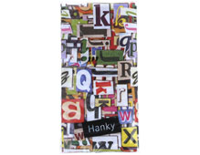 P01360 PANUELOS TT COLOURFULL LETTERS 11X5 5cm 10u Paper Design
