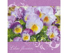 P200029 Servilletas papel Lilac flowers Paper Design