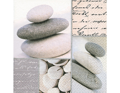 P200049 Servilletas papel Piled stones Paper Design
