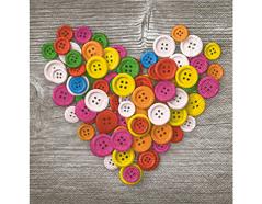 P200074 Servilletas papel Colourful buttons Paper Design