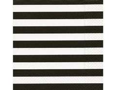 P200104 Servilletas papel Block stripes black Paper Design