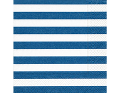 P200105 Servilletas papel Block stripes blue Paper Design