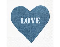 P200109 Servilletas papel Jeans heart Paper Design