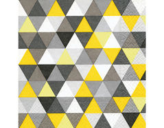 P200122 Servilletas papel Triangles yellow black Paper Design