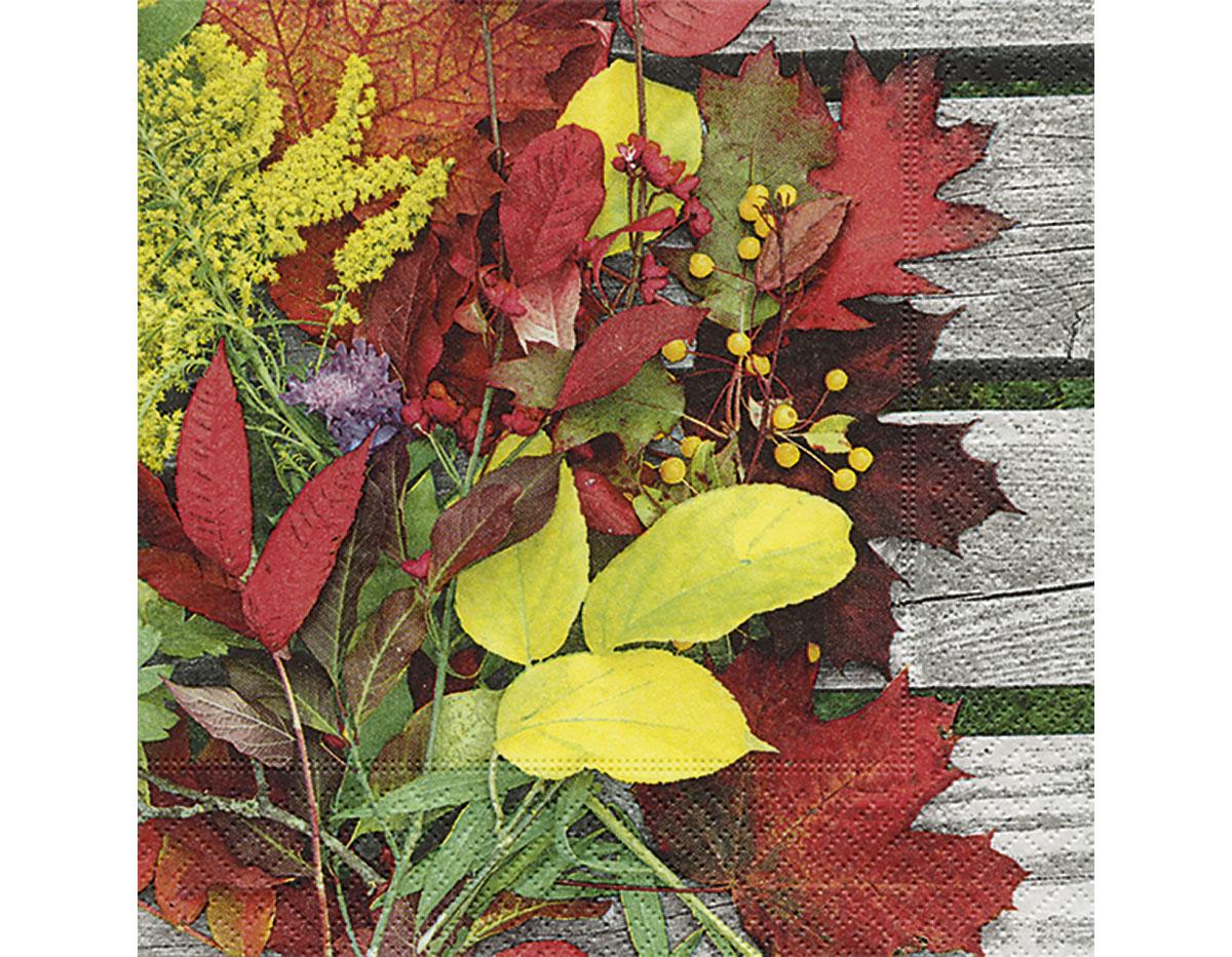 P200186 Servilletas papel Colourful leaves Paper Design