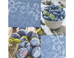 P200194 Servilletas papel Blueberries plums Paper Design