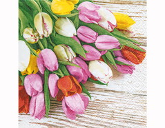 P200214 Servilletas papel Bunch of tulips 33x33cm 20u Paper Design