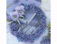 P200222 Servilletas papel Blue wreath 33x33cm 20u Paper Design