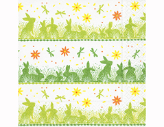 P200224 Servilletas papel Bunny meadow 33x33cm 20u Paper Design