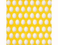 P200229 Servilletas papel White eggs yellow 33x33cm 20u Paper Design