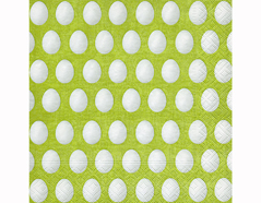 P200231 Servilletas papel White eggs green 33x33cm 20u Paper Design