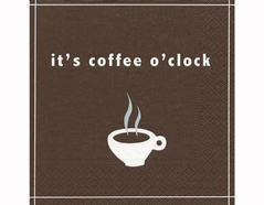 P200252 Servilletas papel Coffee o clock 33x33cm 20u Paper Design