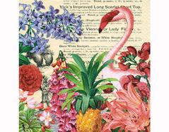 P200253 Servilletas papel Tropical garden 33x33cm 20u Paper Design
