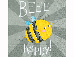 P200255 Servilletas papel Beee happy 33x33cm 20u Paper Design