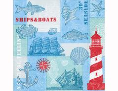 P200261 Servilletas papel Nautical feeling 33x33cm 20u Paper Design
