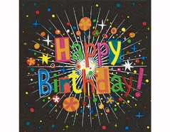 P200278 Servilletas papel Birthday cracker 33x33cm 20u Paper Design
