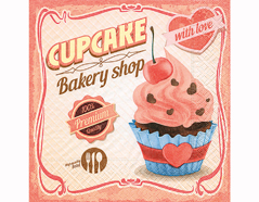 P200280 Servilletas papel Cupcake with love 33x33cm 20u Paper Design