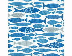 P200291 Servilletas papel Shoal of fish 33x33cm 20u Paper Design