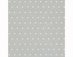 P200304 Servilletas papel Dots ash 33x33cm 20u Paper Design