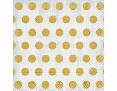 P200309 Servilletas papel Classic dots grey 33x33cm 20u Paper Design