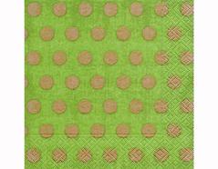 P200310 Servilletas papel Classic dots green 33x33cm 20u Paper Design