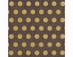 P200311 Servilletas papel Classic dots brown 33x33cm 20u Paper Design