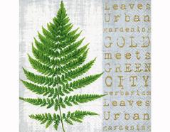 P200317 Servilletas papel Gold meets green 33x33cm 20u Paper Design