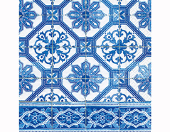 P200335 Servilletas papel Blue tiles 33x33cm 20u Paper Design