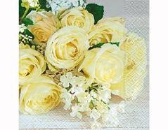 P200339 Servilletas papel Wedding roses 33x33cm 20u Paper Design